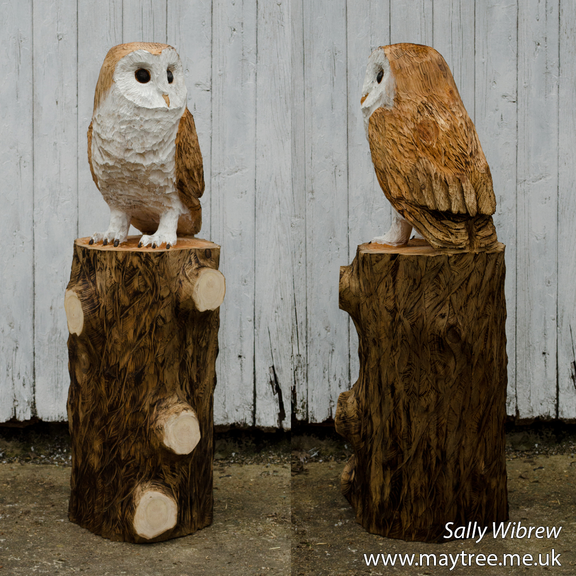 Chainsaw carved basic owl youtube