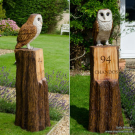 Barn owl house sign