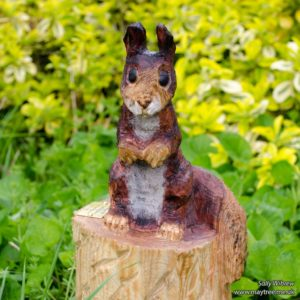 Squirrel Chainsaw Carving
