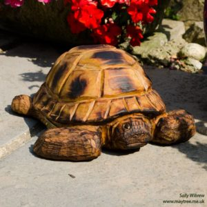 Tortoise chainsaw carving