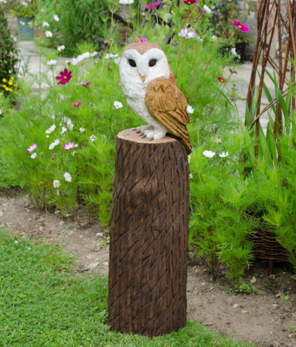 Barn Owl Wooden Sculpture