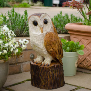 Barn Owl Chainsaw Carving