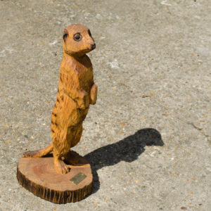 Meerkat Chainsaw Carving