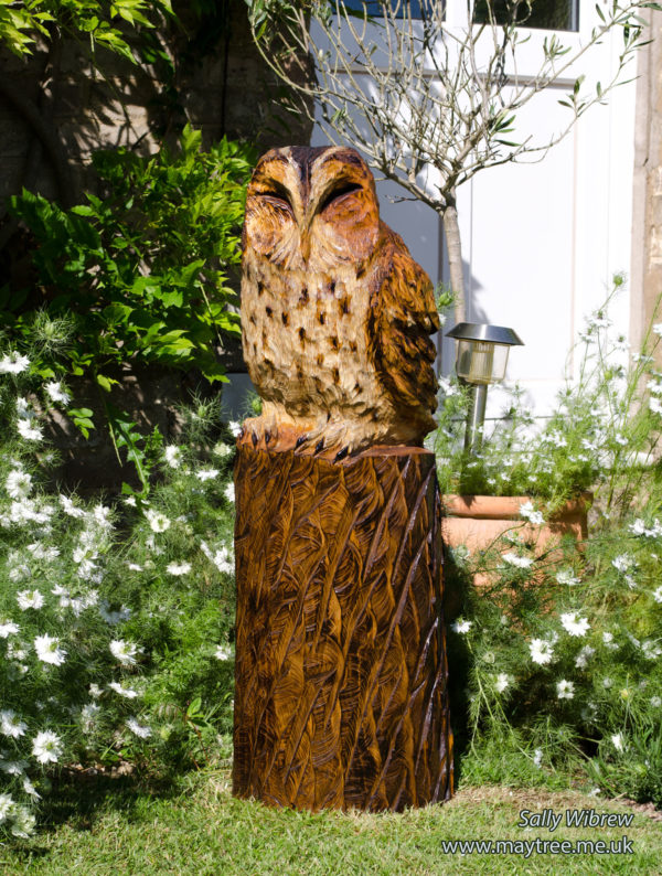 Sleeping Tawny Owl Sculpture