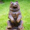 Walnut Bear Chainsaw Carving