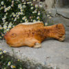 Yew wood Koi Carp sculpture