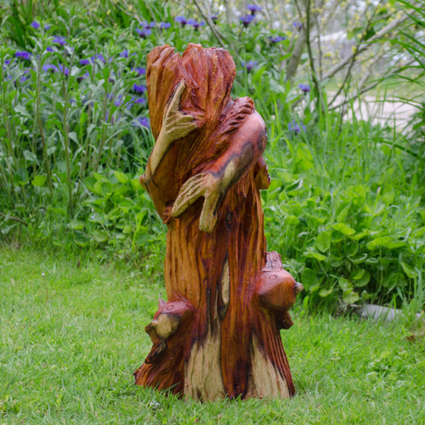 Yew Fishes Chainsaw Carving sculpture