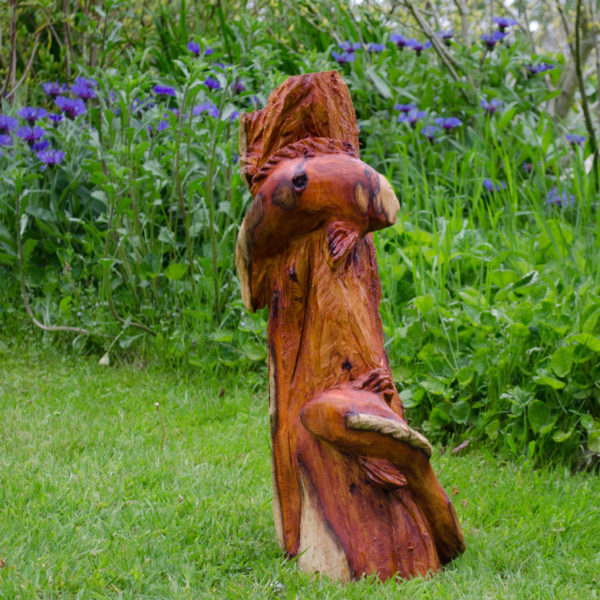 Yew koi carp Chainsaw sculpture